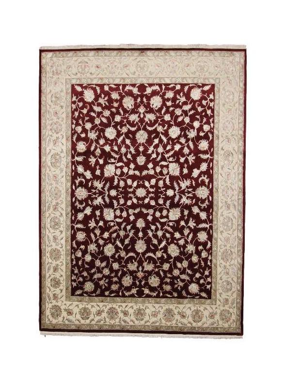 Klasyczny dywan perski Tabriz ok 240x310cm 100% wełna bordowy