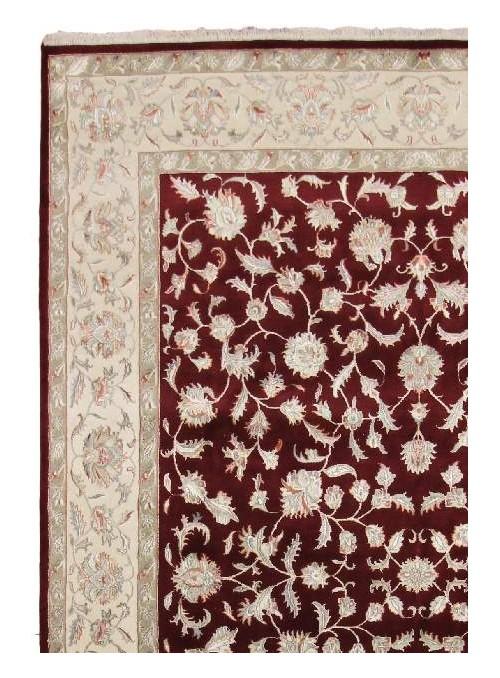 Klassisch Orient Teppich Handgeknüpft Iran Tabriz 240x310cm Wole mit Seide