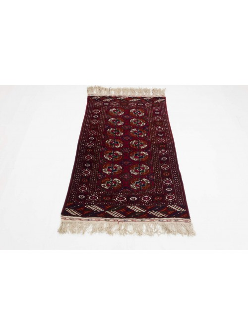 Luxus Turkmenistan Buchara Teppich ca. 80x130cm 100% Schurwolle rot