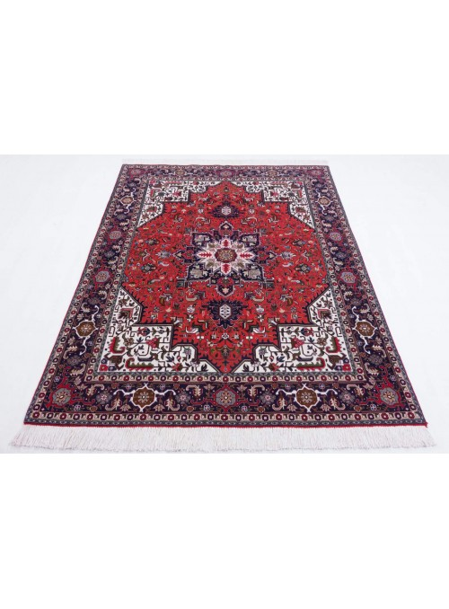 Hand made carpet Tabriz Mahi 40Raj 150x200cm wool classic red