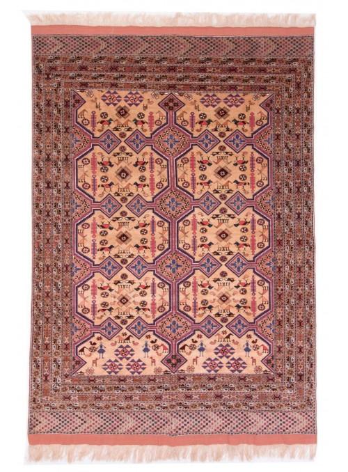 Hand-made luxury carpet Kabul Mauri Afghanistan ca. 115x165cm wool and silk