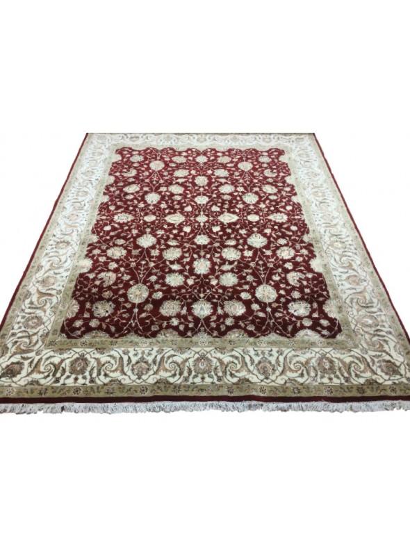 Klasyczny dywan perski Tabriz ok 275x365cm 100% wełna bordowy