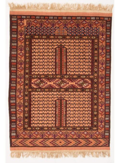 Hand-made luxury carpet Kabul Mauri Afghanistan ca. 120x150cm wool and silk