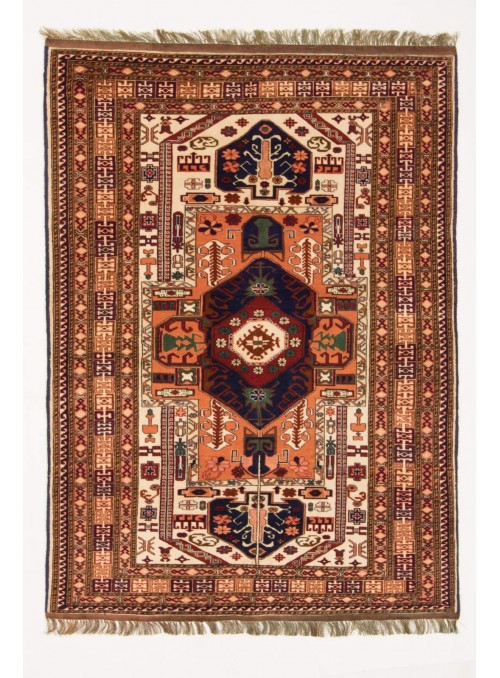Hand-made luxury carpet Kabul Mauri Afghanistan ca. 110x160cm wool and silk