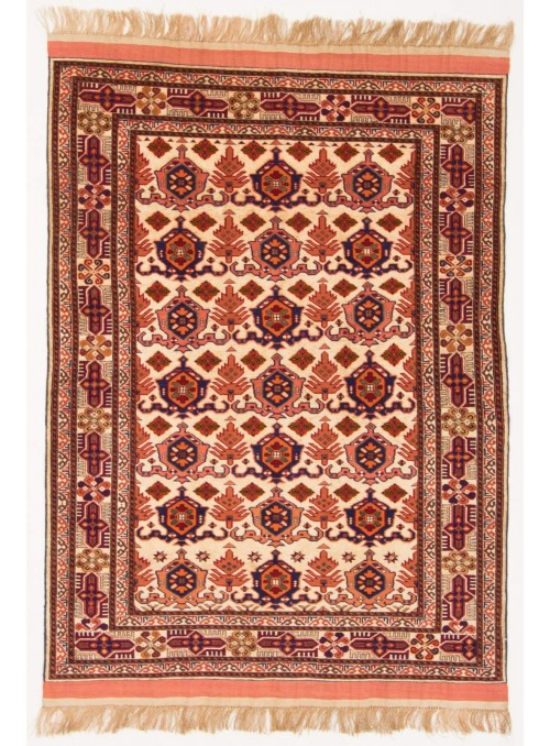 Hand-made luxury carpet Kabul Mauri Afghanistan ca. 110x150cm wool and silk