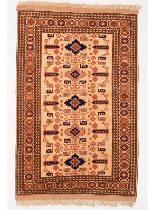 Hand-made luxury carpet Kabul Mauri Afghanistan ca. 120x180cm wool and silk
