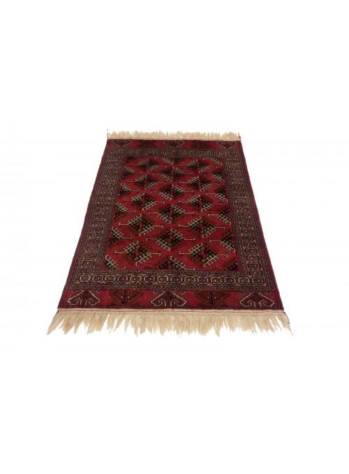 Ręcznie tkany dywan Turkmenistan Buchara czerwony ok 100x150cm 100% wełna