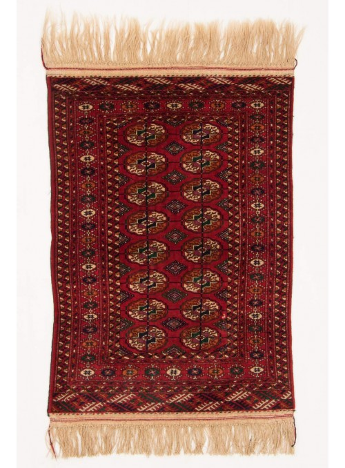 Hand-made luxury carpet Turkmenistan Buchara ca. 90x125cm 100% wool