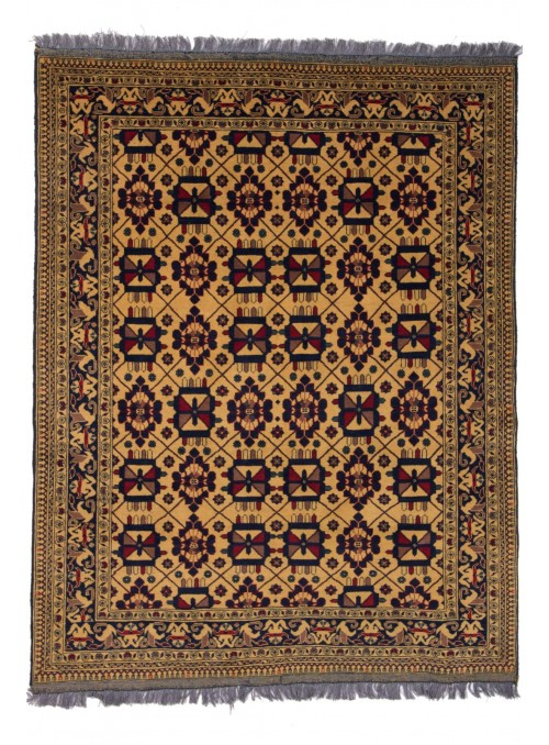 Hand-made luxury carpet Afghanistan Khal Mohammadi ca 150x200cm wool and silk