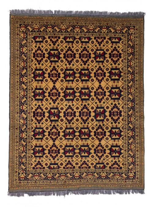 Ręcznie tkany dywan Afganistan Khal Mohammadi ok 150x200cm wełna i jedwab
