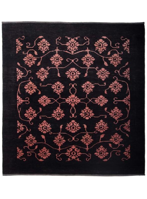 Hand-made modern carpet Afghanistan Chobi Ziegler ca. 200x200cm highland wool