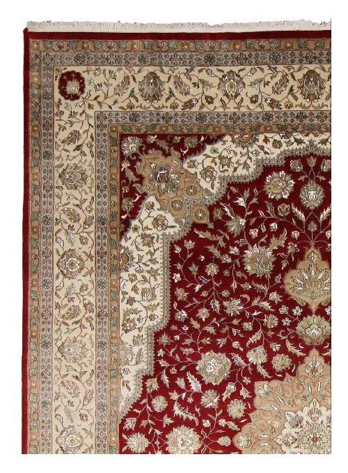 Klasyczny dywan perski Tabriz ok 350x250cm 100% wełna bordowy