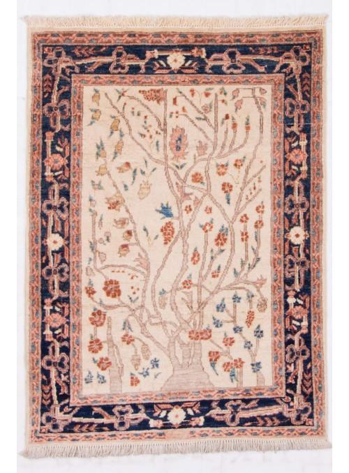 Ręcznie tkany kwiatowy dywan Afganistan Chobi Ziegler ok 90x130cm wełna wysokogórska