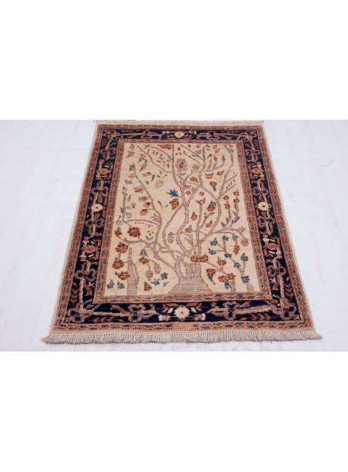Hand-made floral carpet Afghanistan Chobi Ziegler ca. 90x130cm highland wool