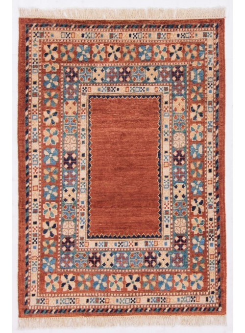 Ręcznie tkany geometryczny dywan Afganistan Chobi Ziegler ok 80x120cm wełna wysokogórska