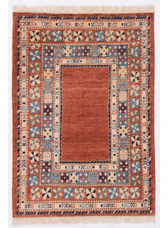 Handgeknuepft Orientteppich Chobi Ziegler Afghan 80x120 100 Wolle
