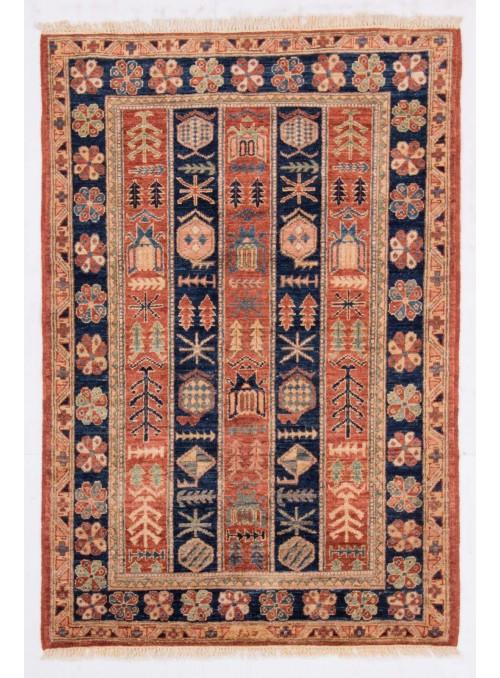 Geometrisch Afghanistan Teppich Chobi Ziegler ca. 90x150m Hochlandschurwolle