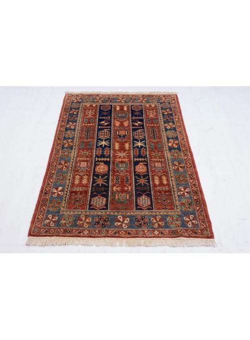 Geometrisch Afghanistan Teppich Chobi Ziegler ca. 100x150m Hochlandschurwolle