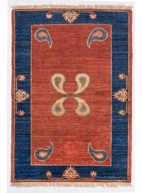 Geometrisch Afghanistan Teppich Chobi Ziegler ca. 110x160cm Hochlandschurwolle