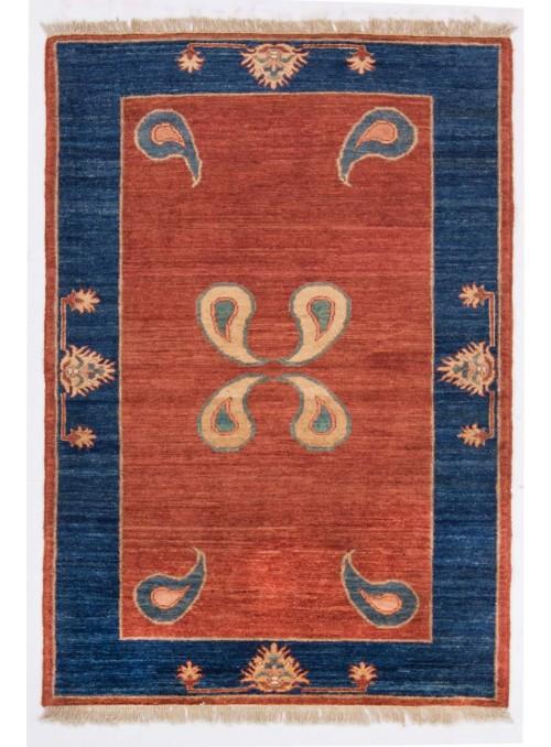 Ręcznie tkany geometryczny dywan Afganistan Chobi Ziegler ok 110x160cm wełna wysokogórska