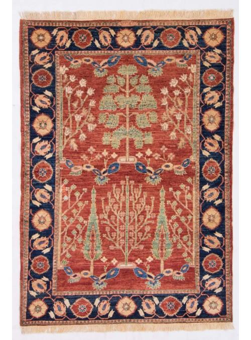 Ręcznie tkany geometryczny dywan Afganistan Chobi Ziegler ok 100x150cm wełna wysokogórska