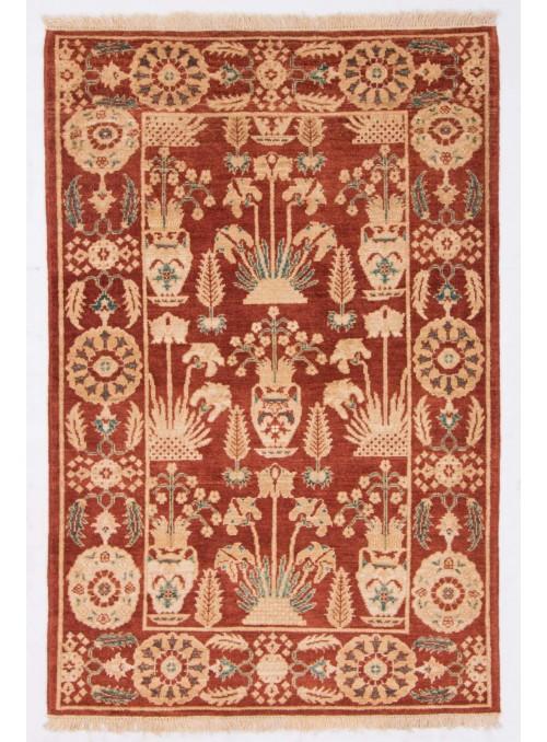 Hand-made carpet Afghanistan Chobi Ziegler ca. 110x160cm highland wool