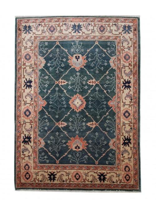 Orient Teppich Handgeknüpft Iran Heriz 200x300cm 100% wolle grün