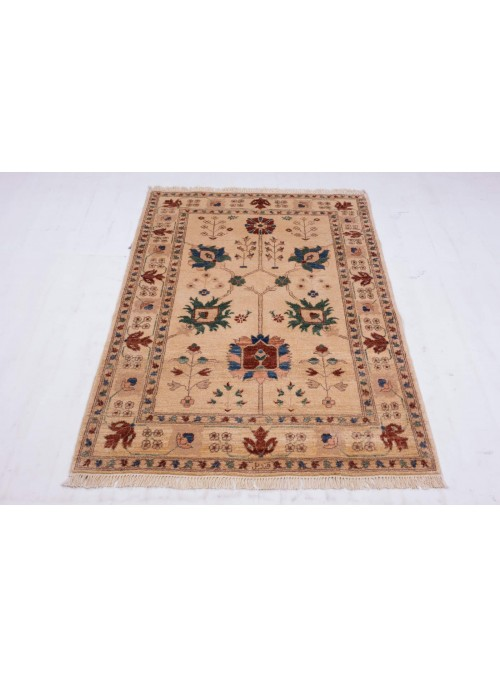 Hand-made carpet Afghanistan Chobi Ziegler ca. 105x155cm highland wool