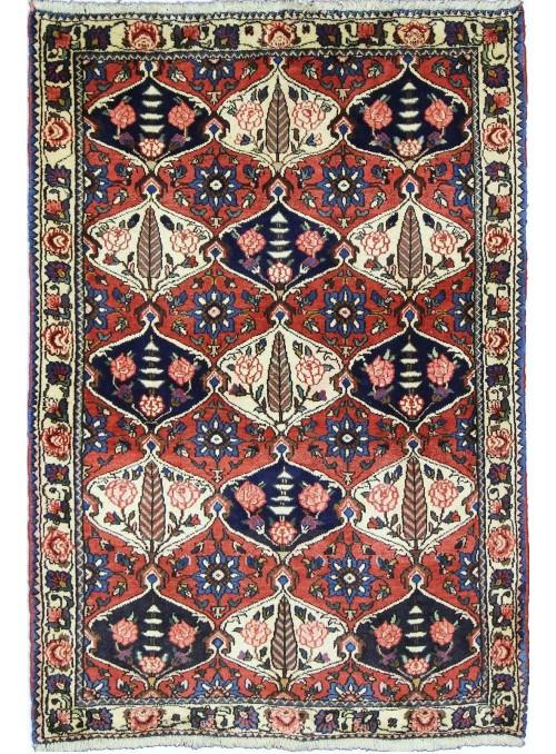 Hand made carpet Bakhtiari 100x150cm 100% wool red