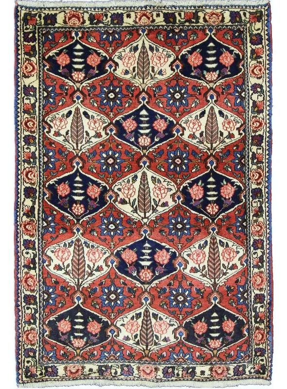 Ręcznie tkany dywan Baktiar Iran 100% wełna ok 105x155cm czerwony