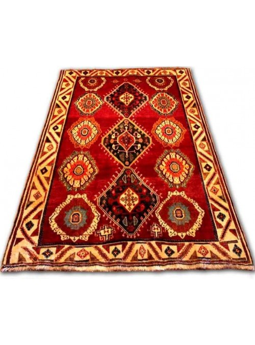 Ręcznie tkany dywan Sziraz Kaszkaj Iran 100% wełna ok 140x210cm czerwony