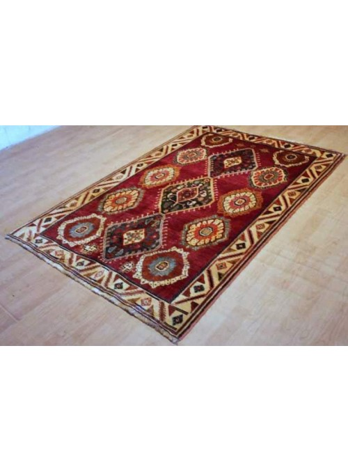 Hand made carpet shiraz Qashqai 140x210cm 100% wool red