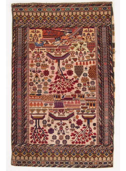 Carpet Toschak 169x107 cm - Afghanistan - Sheeps wool
