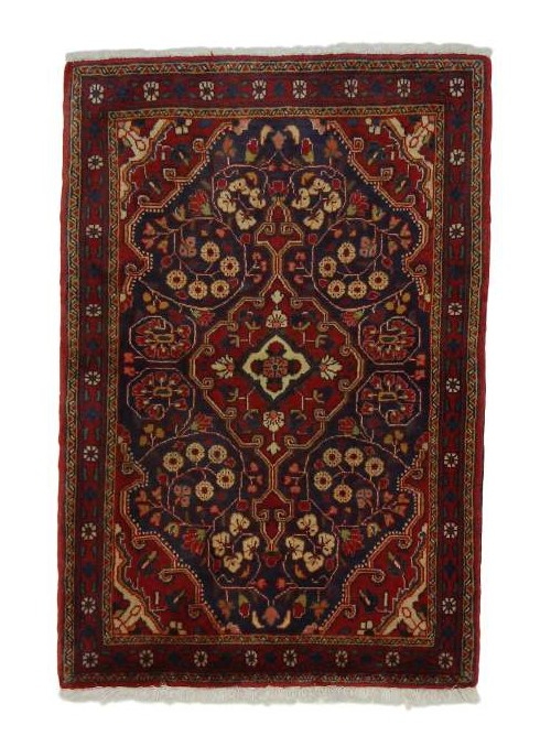 Hand made carpet Malayer 70x100cm 100% wool red
