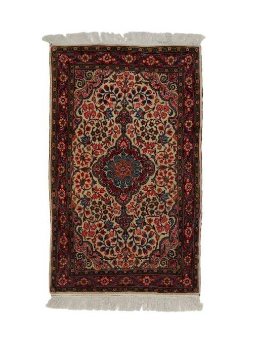 Hand made carpet Malayer 65x105cm 100% wool red