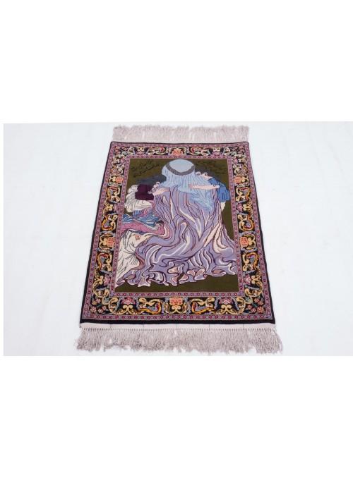 Carpet Esfahan Colorful 70x100 cm Iran - 100% Wool