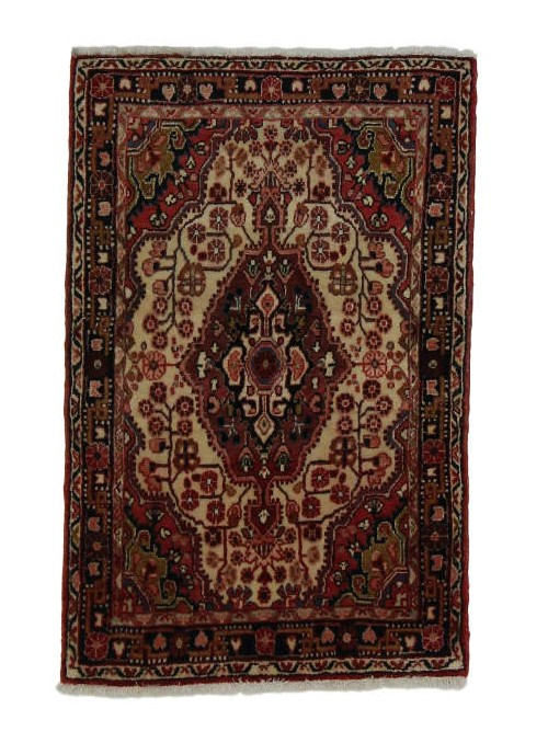 Hand made carpet Malayer 75x105cm 100% wool red