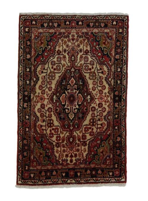 Ręcznie tkany dywan Malajer Iran 100% wełna ok 65x100cm czerwony