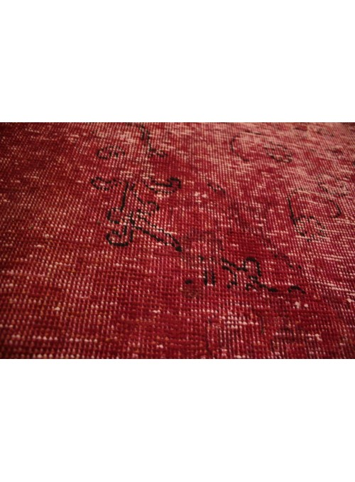 Hand made carpet Tabriz 200x300cm wool red colored vintage