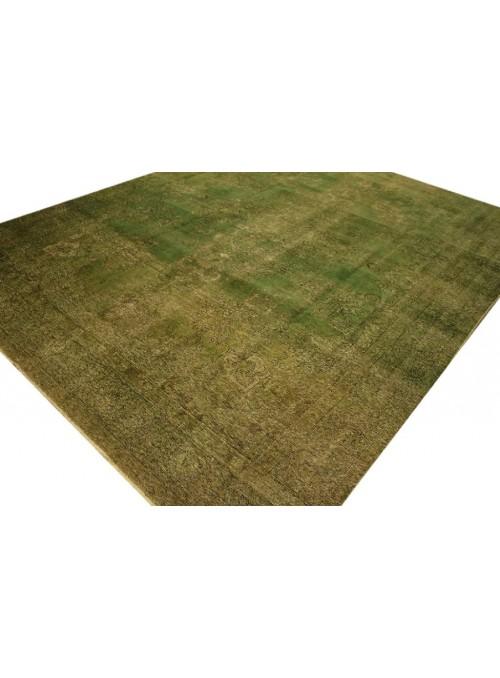 Orient Teppich Handgeknüpft Iran Tabriz 300x400cm grün wolle colored vintage