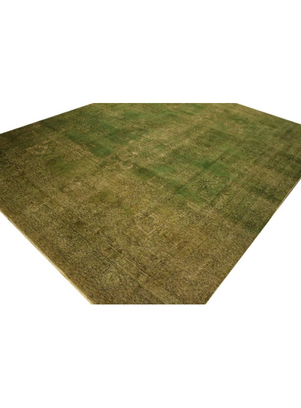Hand made carpet Tabriz 300x400cm wool green colored vintage