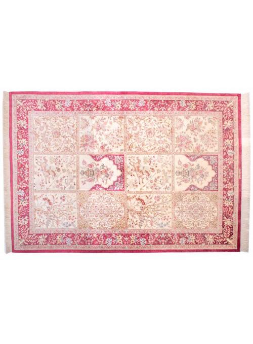 Teppich Ghom Seide Beige 140x200 cm Iran - 100% Naturseide