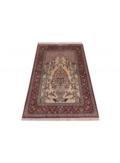 Dywan Kom Seide Wielokolorowy 100x150 cm Iran - 100% Naturalny jedwab