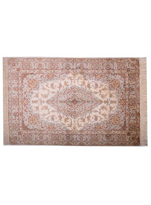 Teppich Ghom Seide Beige 100x150 cm Iran - 100% Naturseide