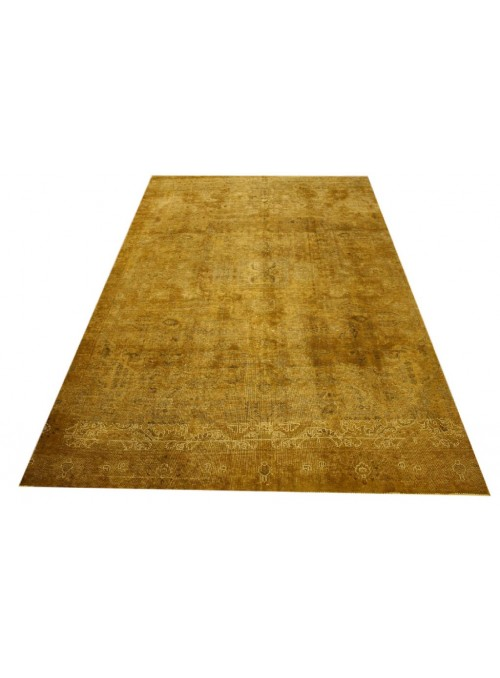 Hand made carpet Tabriz 250x350cm wool yellow colored vintage