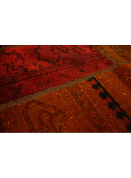 Orient Teppich Handgeknüpft Iran patchwork 170x240cm kelim Wolle colored vintage