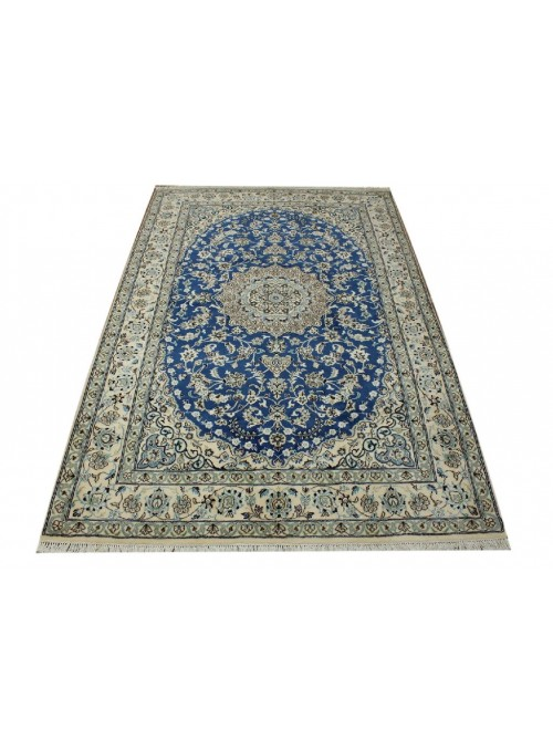 Hand made carpet Nain9la 170x240cm 100% wool blue