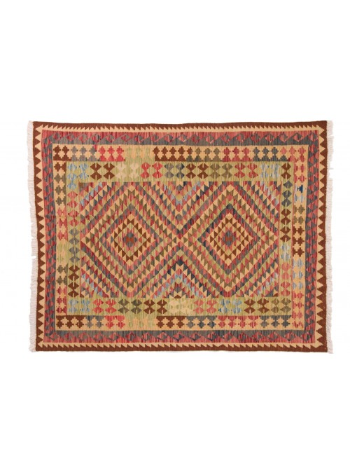 Carpet Kielim Maimana Colorful 150x190 cm Afghanistan - 100% Wool