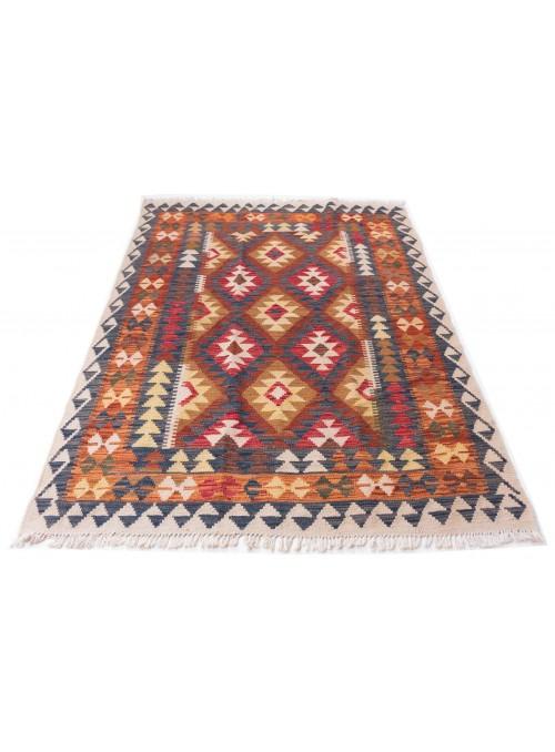 Dywan Kilim Maimana Wielokolorowy 150x190 cm Afganistan - 100% Wełna owcza