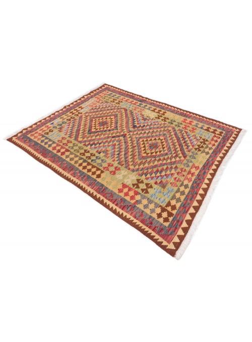 Carpet Kielim Maimana Colorful 160x200 cm Afghanistan - 100% Wool